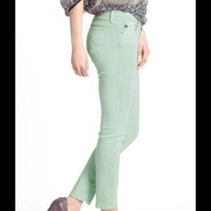 AG Mint Green Stevie Ankle Jeans Women's 32
